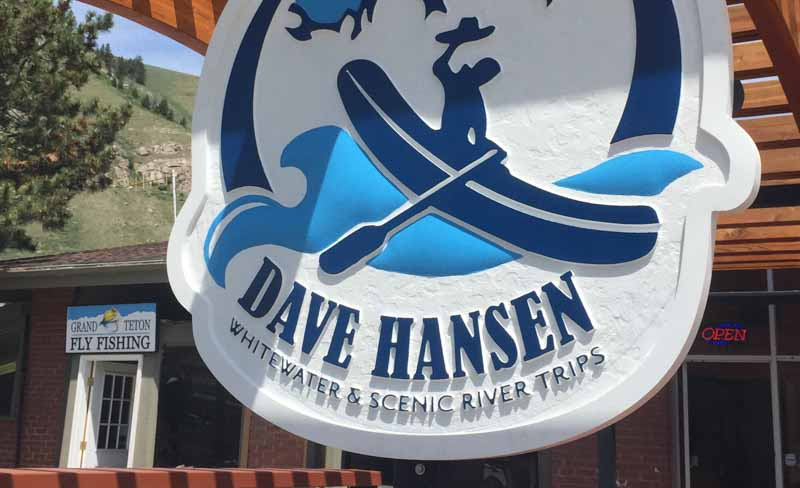 custom signs dave hansen whitewater trips 1 Our Portfolio   Restaurant and Retail Signs in Jackson WY