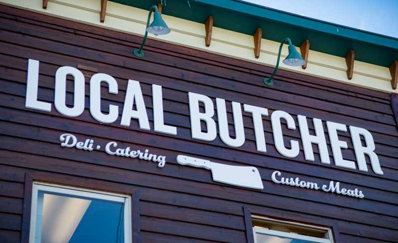 custom signs local butcher 3 e1473188305881 Our Portfolio   Restaurant and Retail Signs in Jackson WY