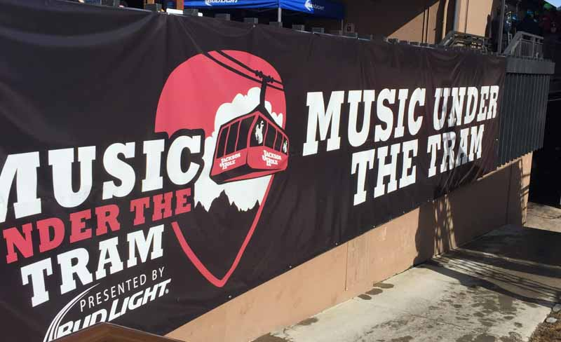 custom signs music under the tram 1 Digital Printing   Store Signs in Jackson WY