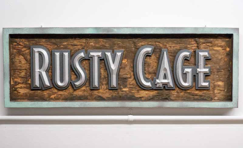custom signs rusty cage 2 Our Portfolio   Restaurant and Retail Signs in Jackson WY