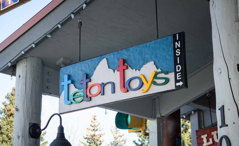 custom signs teton toys 1 Our Portfolio   Restaurant and Retail Signs in Jackson WY