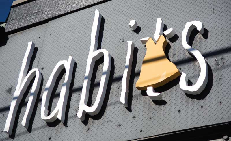 habits business sign Our Portfolio   Restaurant and Retail Signs in Jackson WY