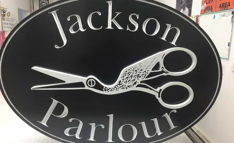 custom signs jackson parlour 3 Our Portfolio   Restaurant and Retail Signs in Jackson WY
