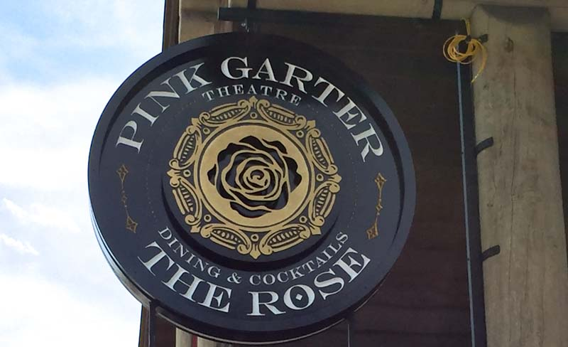 custom signs pink garter theatre 1 Our Portfolio   Restaurant and Retail Signs in Jackson WY