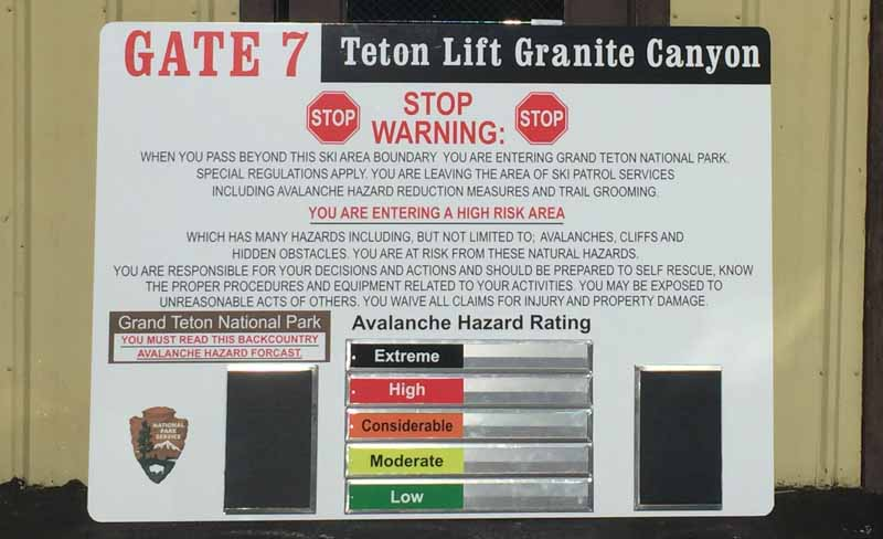 custom signs teton lift warning sign 1 Our Portfolio   Restaurant and Retail Signs in Jackson WY