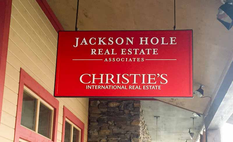 custom signs jackson hole real estate 1 Our Portfolio   Restaurant and Retail Signs in Jackson WY