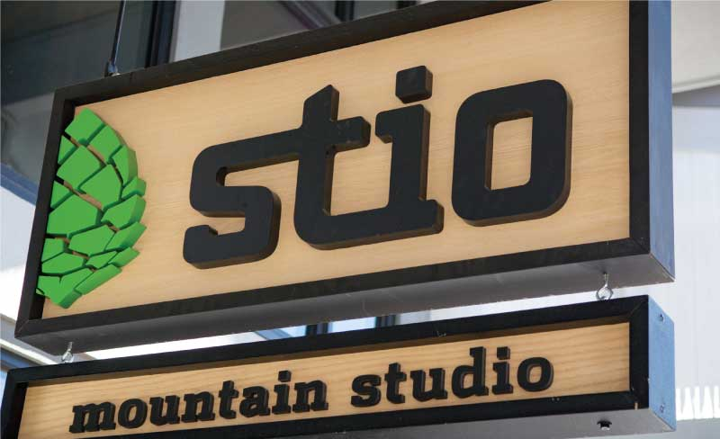 stio business sign Our Portfolio   Restaurant and Retail Signs in Jackson WY