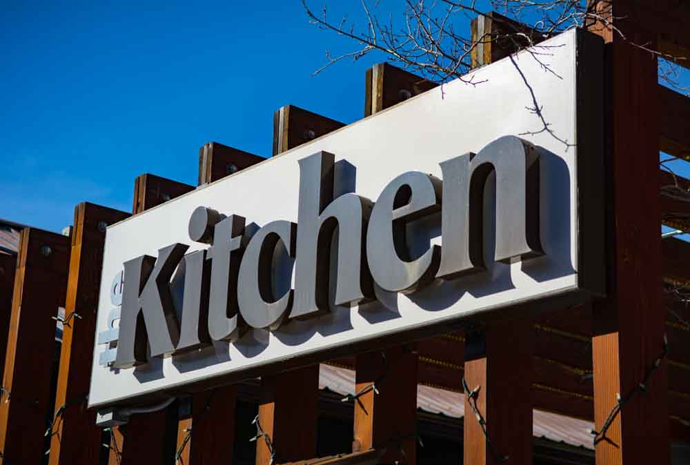 store signs the kitchen 1 Dimensional Signage   Store Signs in Jackson WY