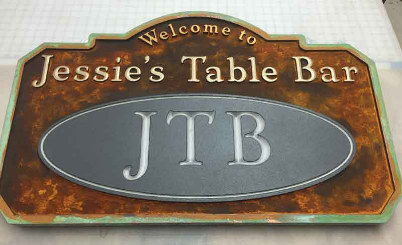 custom signs jessie table bar Our Portfolio   Restaurant and Retail Signs in Jackson WY