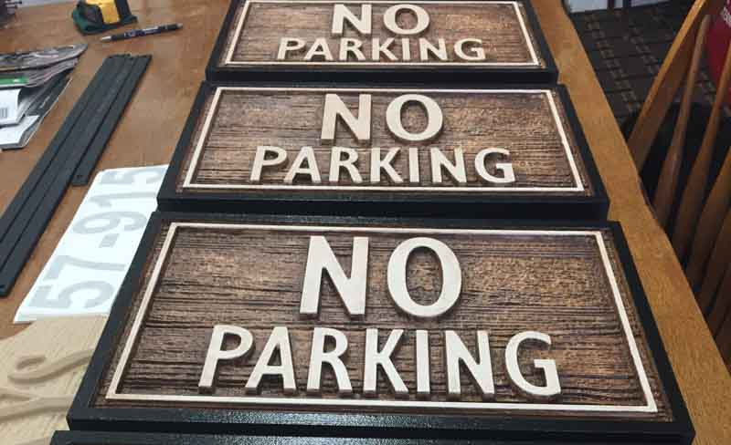 custom signs no parking 1 Our Portfolio   Restaurant and Retail Signs in Jackson WY