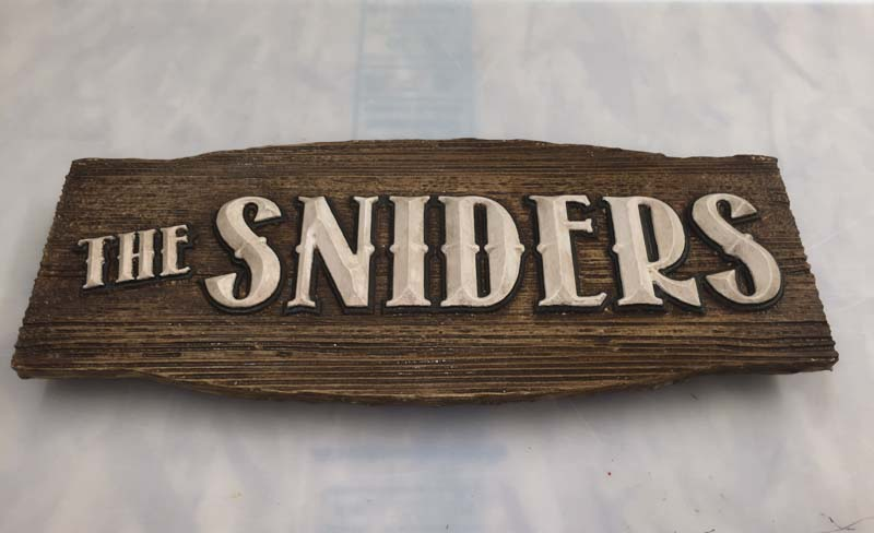 custom signs the sniders 1 Our Portfolio   Restaurant and Retail Signs in Jackson WY